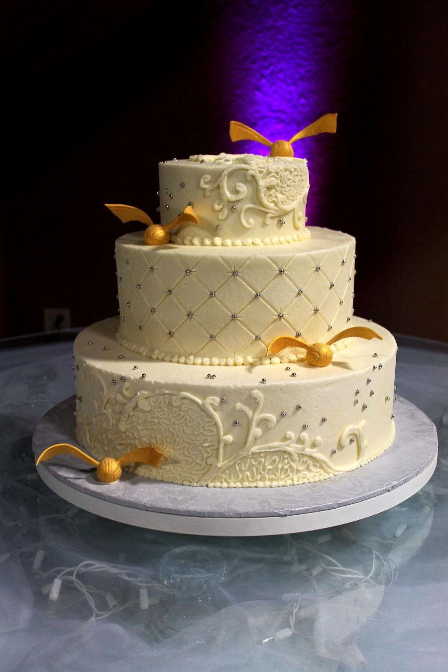 Harry Potter Wedding Cakes  Harry Potter Cake Harry Potter Wedding Cake Gold Snitch