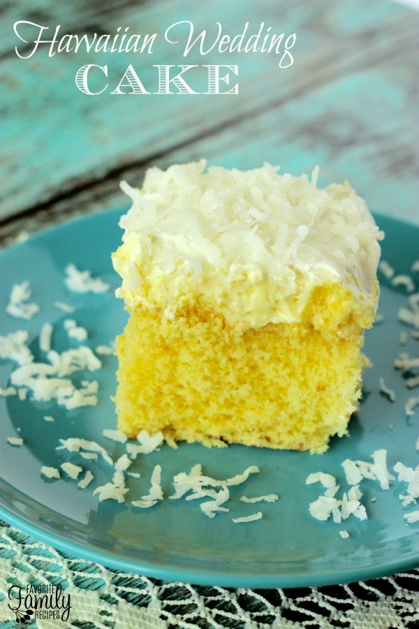 Hawaiian Wedding Cake Recipe  Weekly Menu Plan 6 Recipe Girl