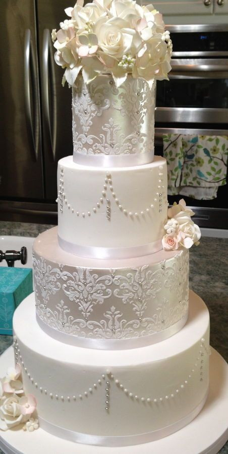 Haydels Wedding Cakes  69 best images about Stencil on Pinterest