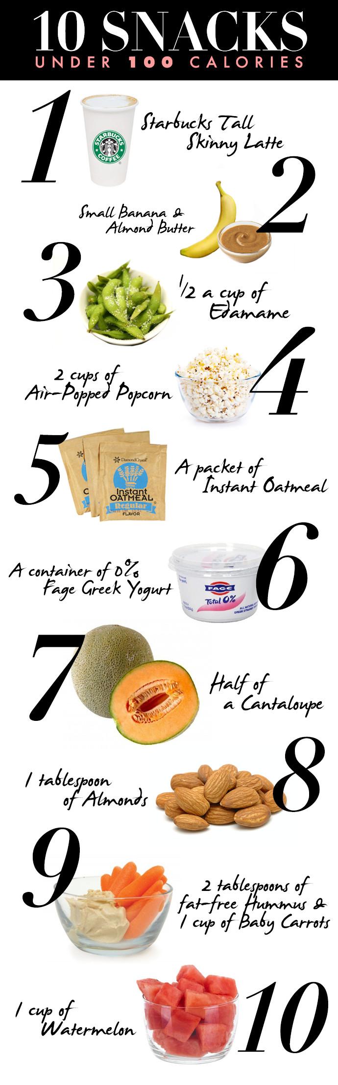 Healthy 100 Calorie Snacks  10 Healthy Snacks Under 100 Calories