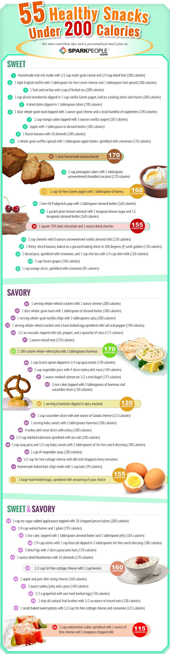 Healthy 200 Calorie Snacks  66 best images about Food on Pinterest