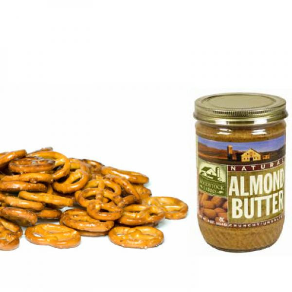 Healthy 200 Calorie Snacks  Healthy Snack Pretzels with Almond Butter 40 Crunchy