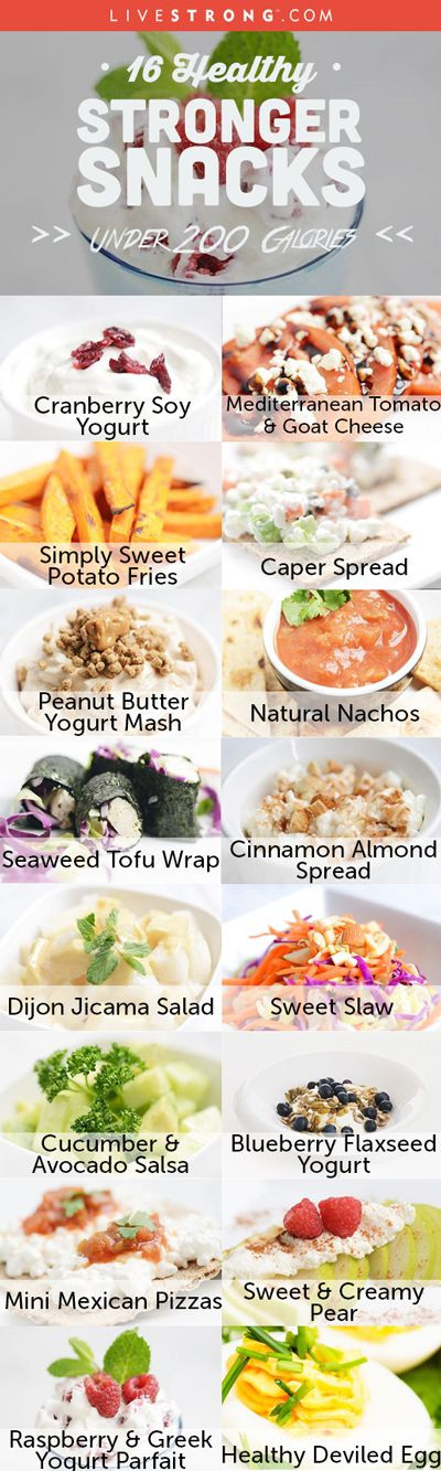 Healthy 200 Calorie Snacks  Healthy STRONGER Snacks Under 200 Calories