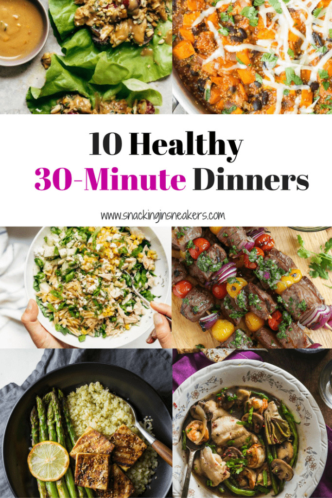 Healthy 30 Minute Dinners  Food Archives Snacking in Sneakers