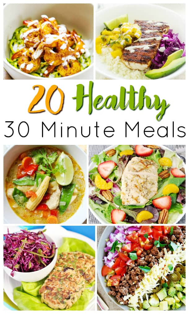 Healthy 30 Minute Meals  30 Minute Meals that are Healthy Too