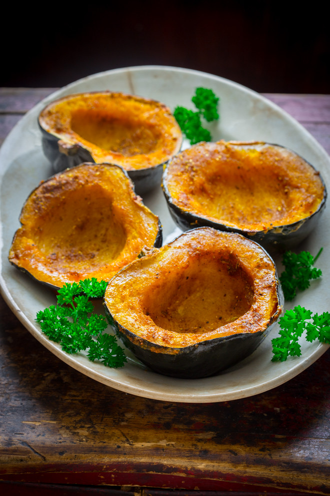 Healthy Acorn Squash Recipes  curry roasted acorn squash Healthy Seasonal Recipes
