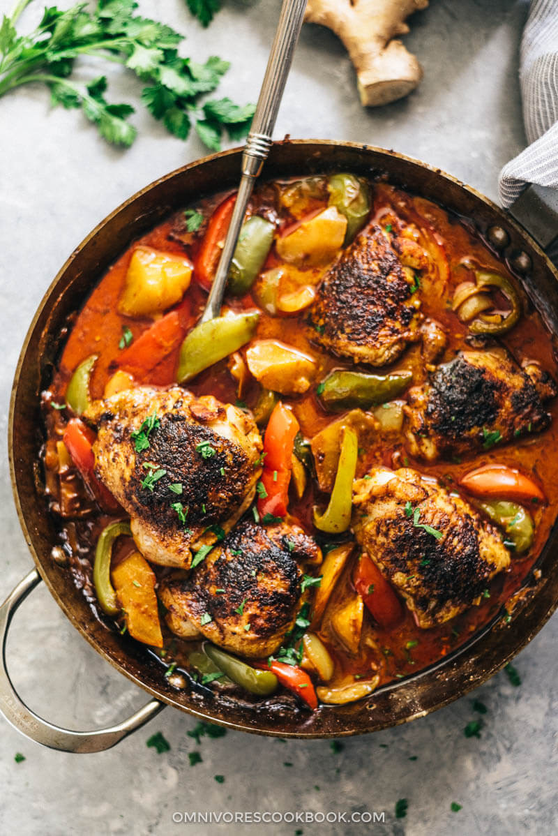 Healthy African American Recipes  African Chicken Macanese e Pan Chicken Curry 非洲鸡