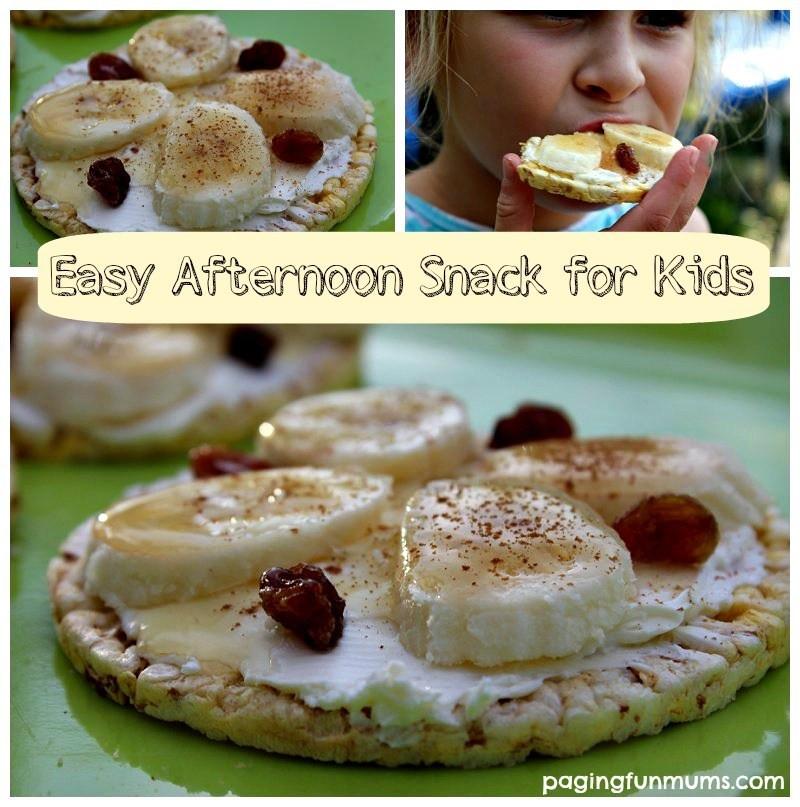 Healthy Afternoon Snacks  Banana Rice Cakes Healthy Afternoon Snack for Kids