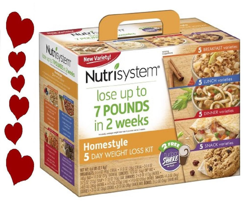 Healthy Afternoon Snacks For Weight Loss  Nutrisystem Homestyle 5 Day Weight Loss Kit Healthy Meals