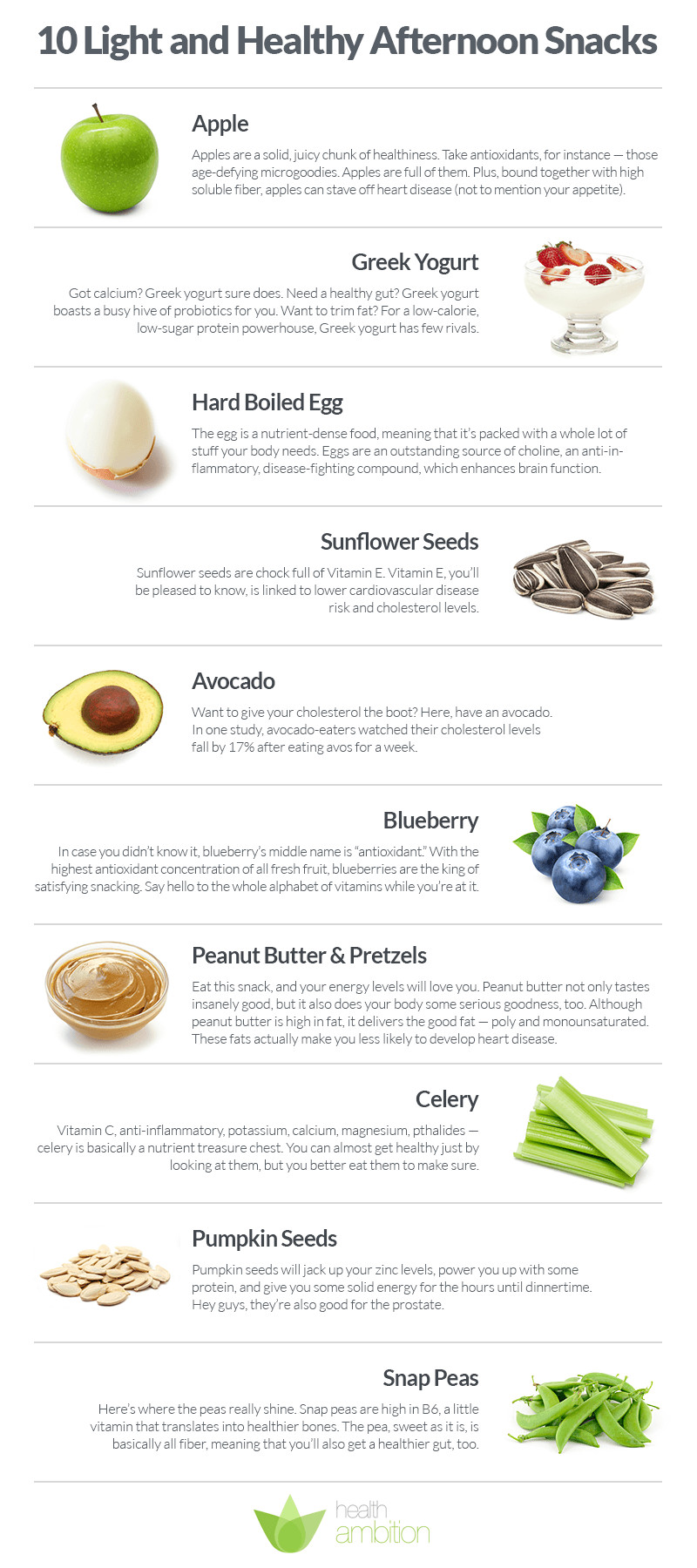 Healthy Afternoon Snacks For Work  10 Light and Healthy Afternoon Snacks Health Ambition