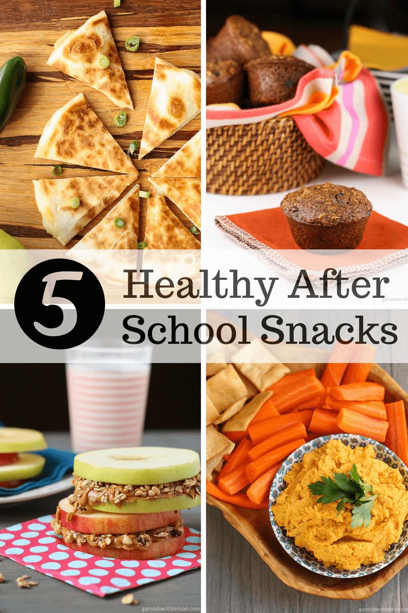 Healthy Afterschool Snacks  5 Healthy After School Snacks Garnish with Lemon