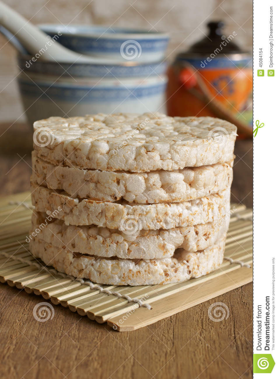 Healthy Alternative To Bread  Rice Cakes Stock Image