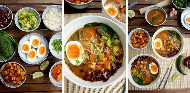 Healthy Alternative To Ramen Noodles  Healthy Ramen with Rice Noodles Tofu and Veggies • Happy
