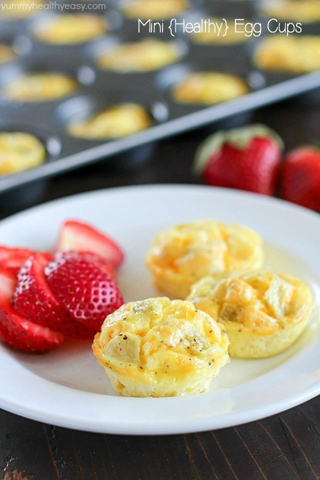 Healthy And Delicious Breakfast  Mini Egg Cups A Healthy Make Ahead Breakfast Yummy