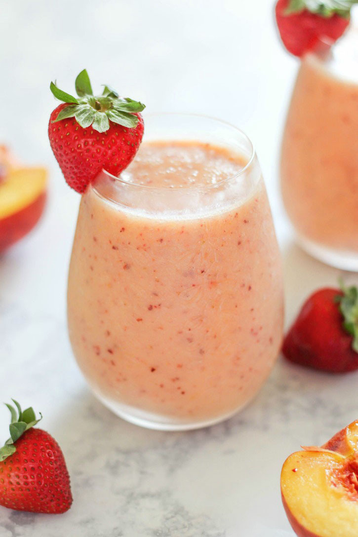 Healthy And Delicious Smoothies  Strawberry Peach Smoothie