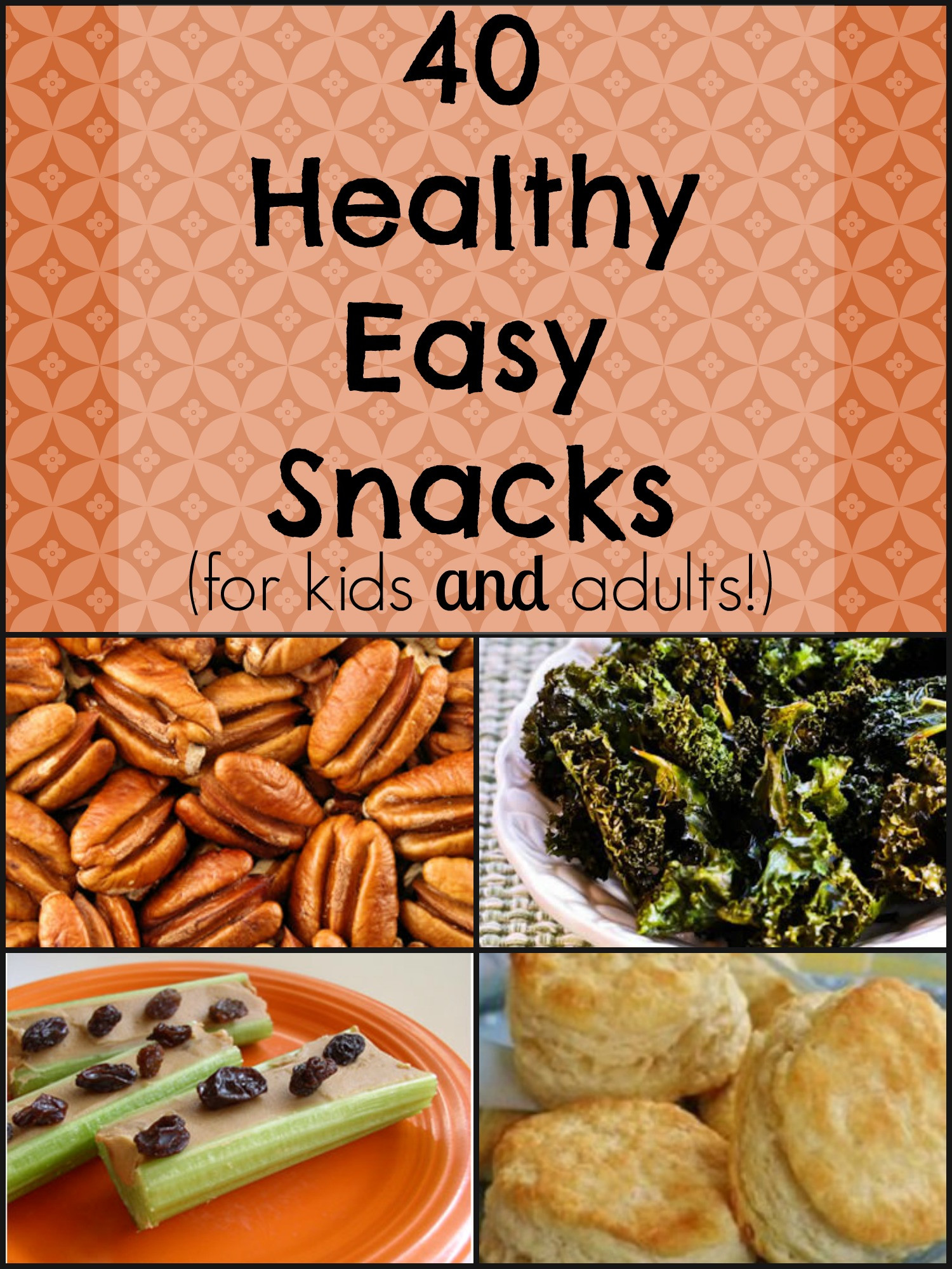 Healthy And Easy Snacks  40 Healthy Easy Snacks for kids and adults