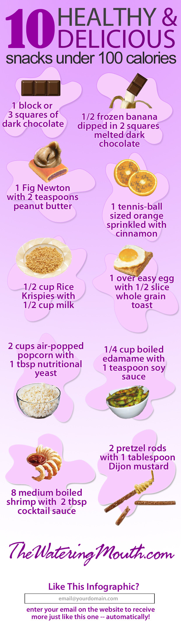 Healthy And Tasty Snacks  Top 10 Calories Infographics Infographics