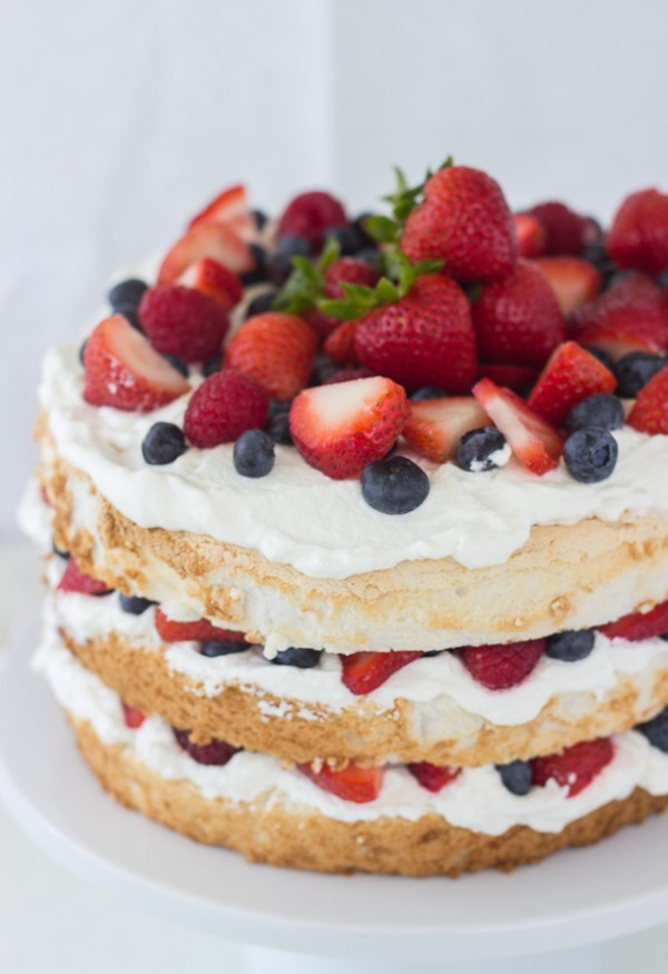Healthy Angel Food Cake Recipe  Healthy 4th of July Desserts Eating Richly