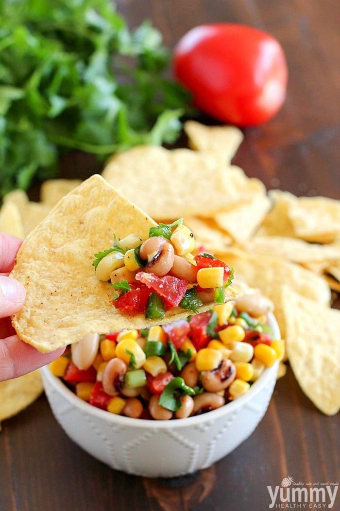 Healthy Appetizers For A Crowd  Easy Cowboy Caviar Yummy Healthy Easy
