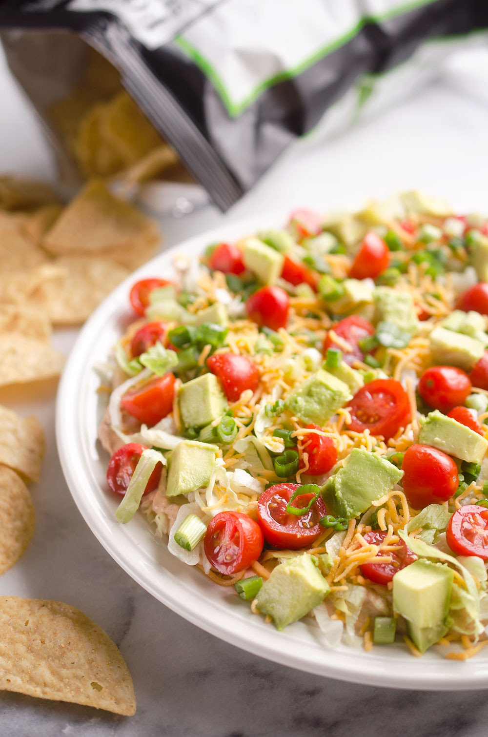 Healthy Appetizers For A Crowd  Skinny Taco Dip Easy 10 Minute Appetizer