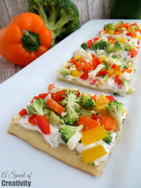 Healthy Appetizers For Kids  Easy Ve able Pizza Appetizer A Spark of Creativity
