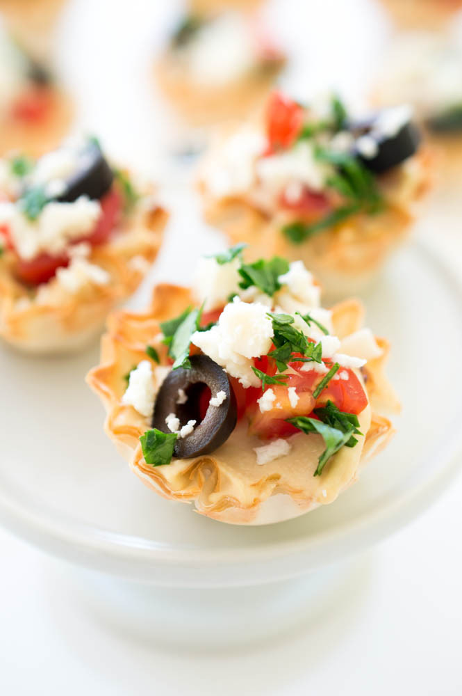 Healthy Appetizers For Potluck  Greek Hummus Phyllo Bites