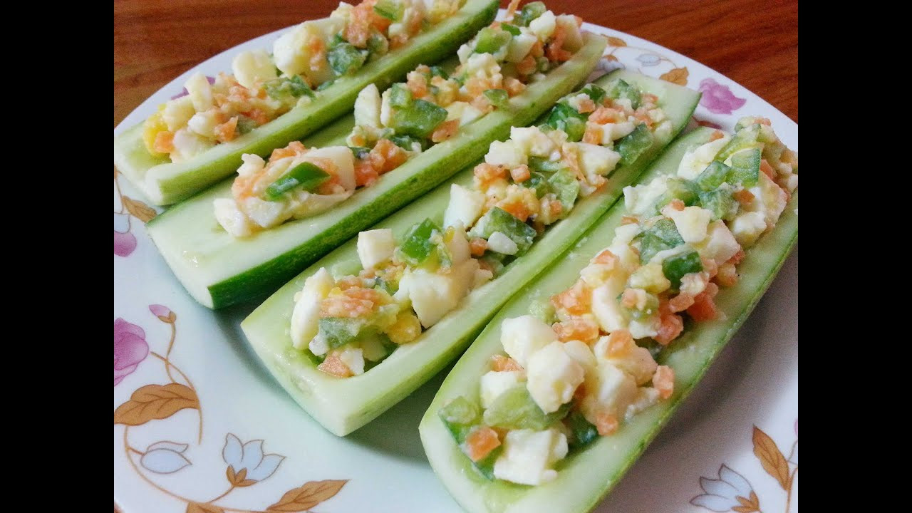 Healthy Appetizers Recipes  Egg Salad on Cucumber Healthy Appetizer