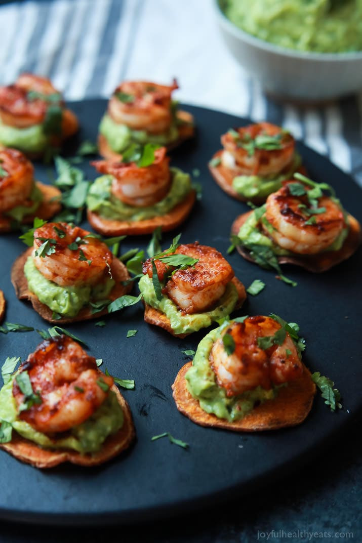 Healthy Appetizers Recipes  Cajun Shrimp Guacamole Bites