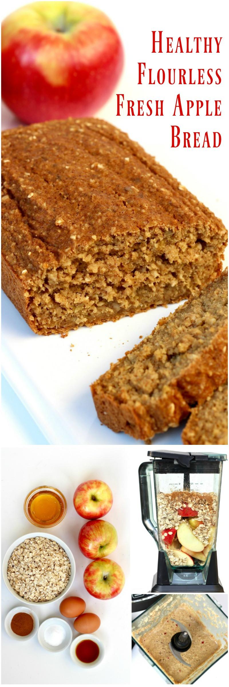 Healthy Apple Bread  Healthy Flourless Fresh Apple Bread recipequicks