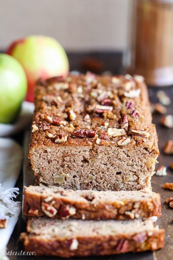 Healthy Apple Bread  Apple Cinnamon Bread Paleo Gluten Free Refined Sugar Free