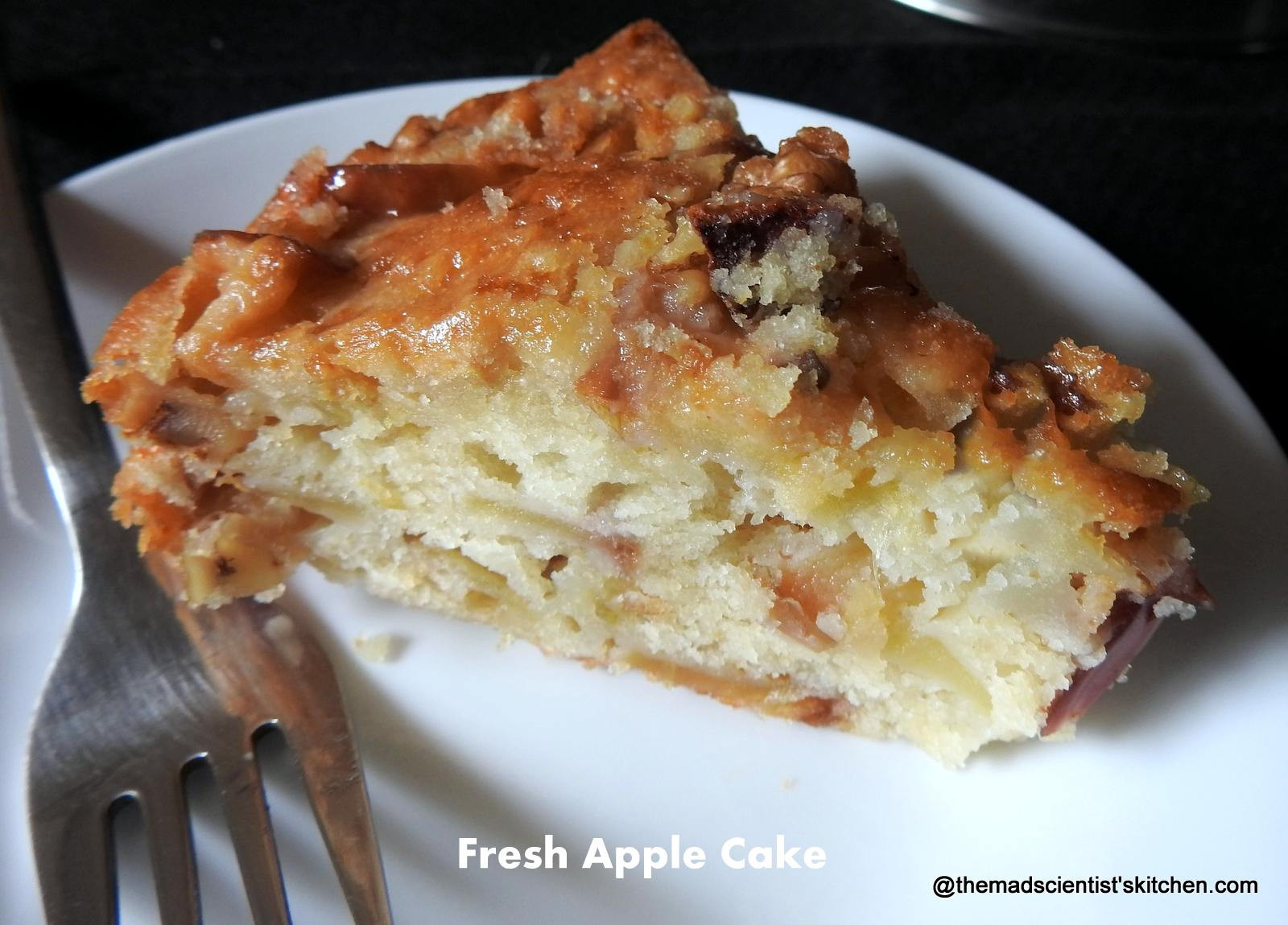 Healthy Apple Cake Recipes With Fresh Apples  Apple Cake with Fresh Apples and Walnuts