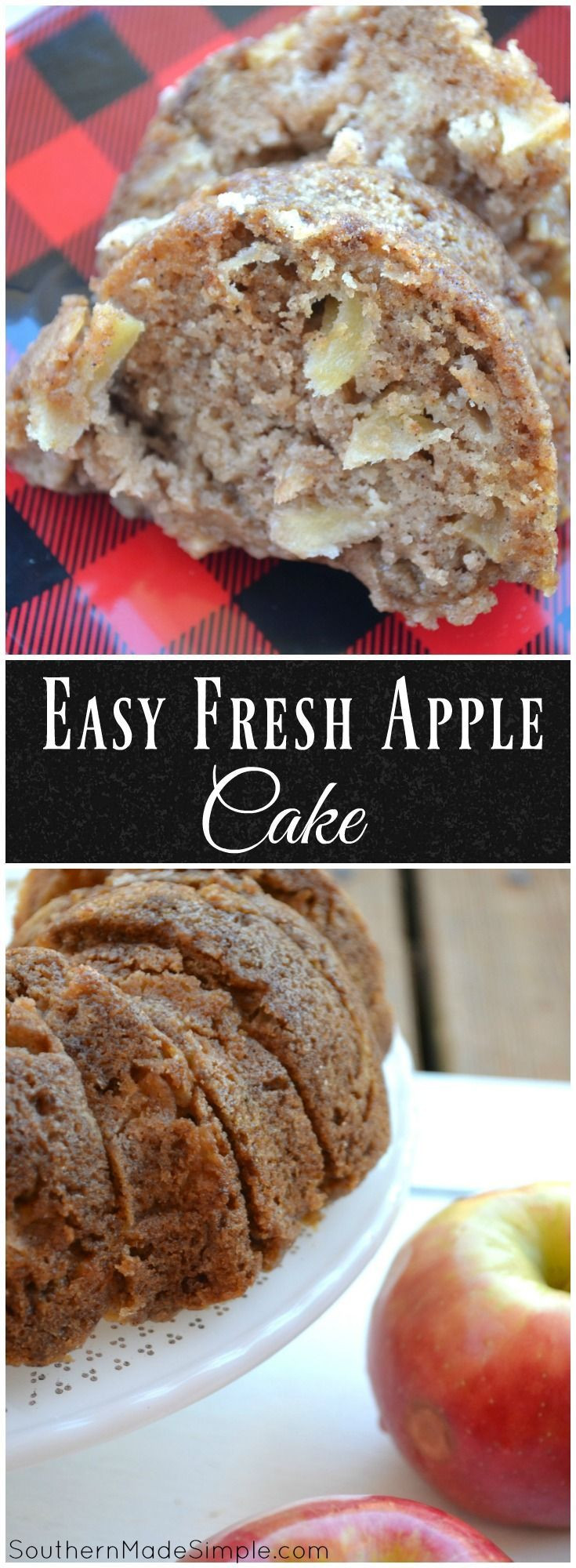 Healthy Apple Cake Recipes With Fresh Apples  17 Best ideas about Easy Apple Cake on Pinterest