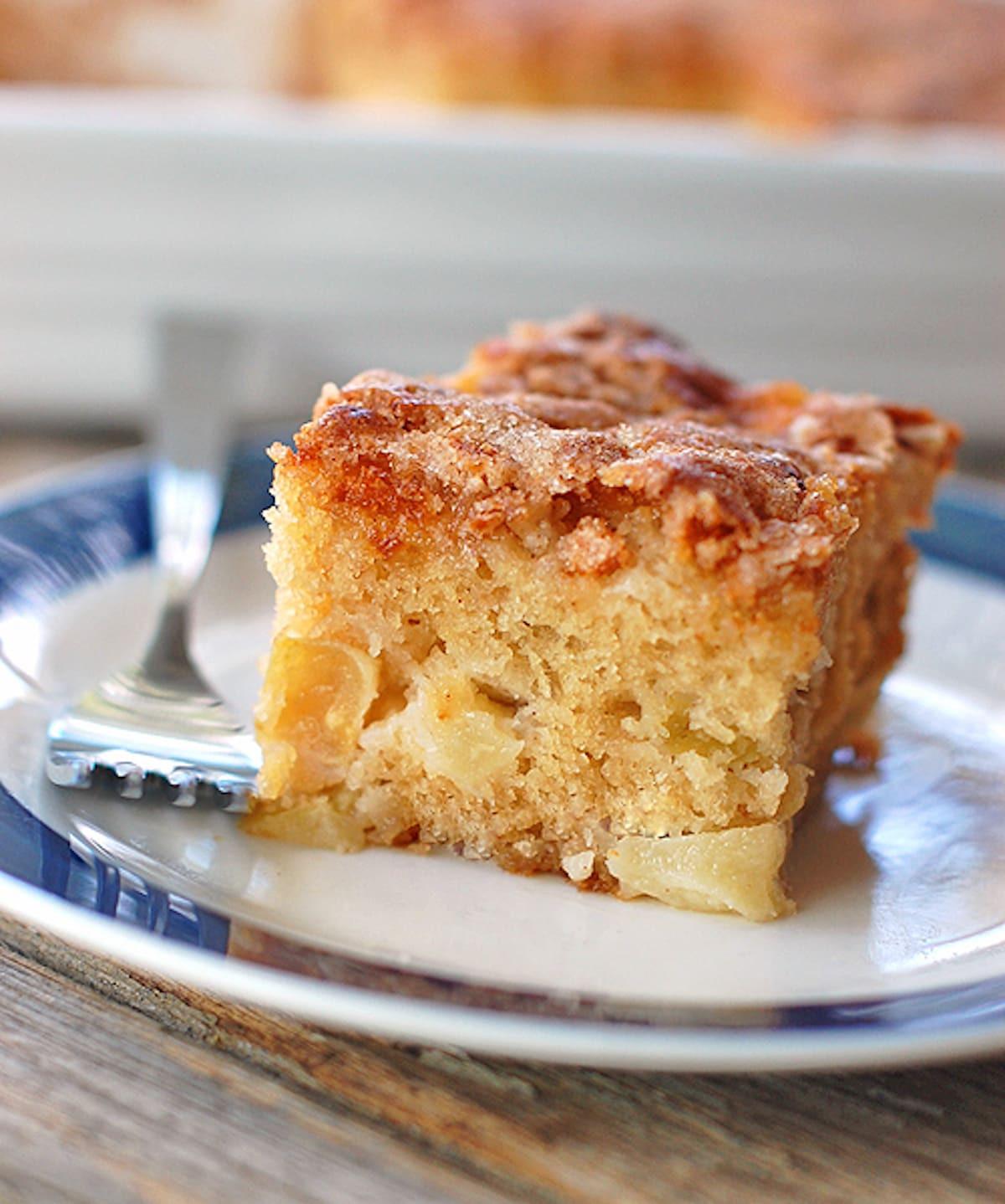 Healthy Apple Cake Recipes With Fresh Apples  Cinnamon Sugar Apple Cake Recipe Pinch of Yum