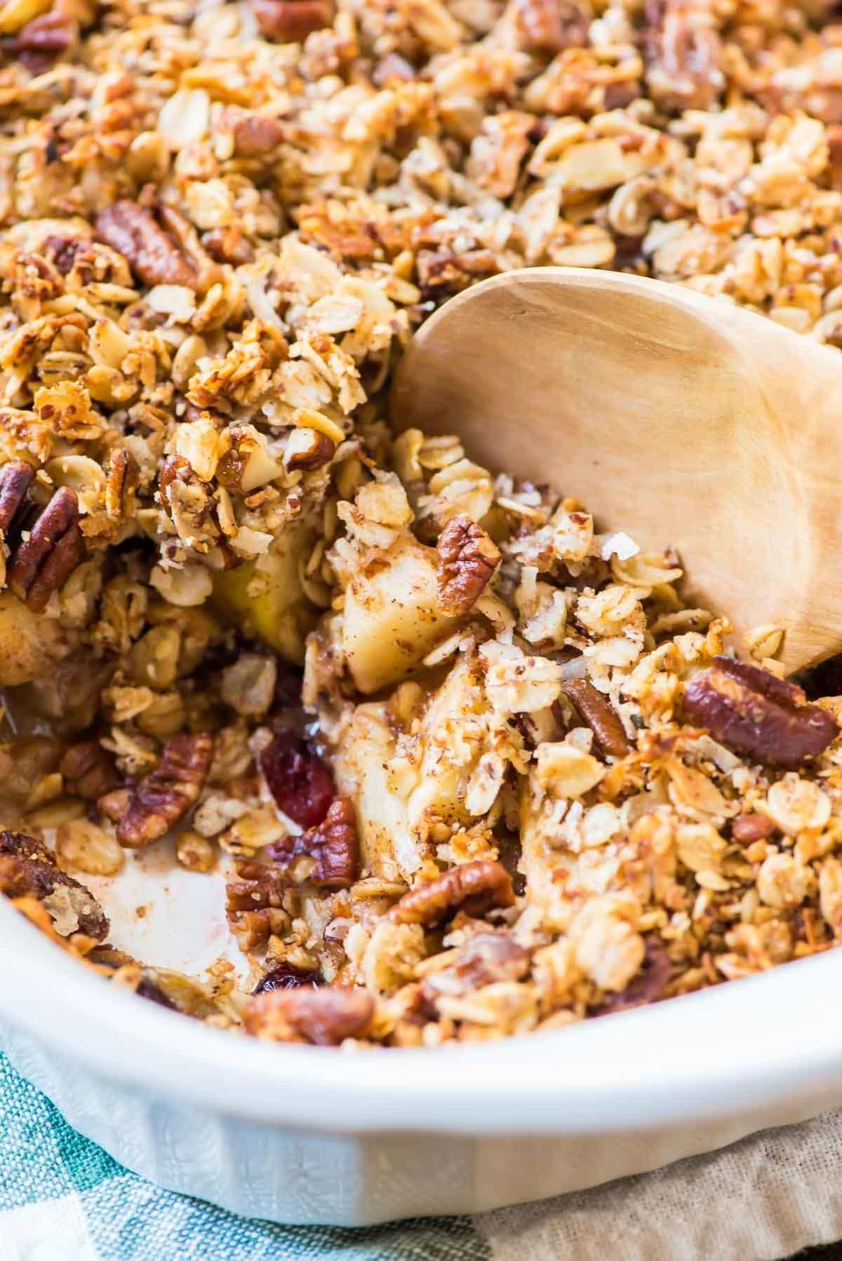 Healthy Apple Cobbler  Vegan Apple Crisp