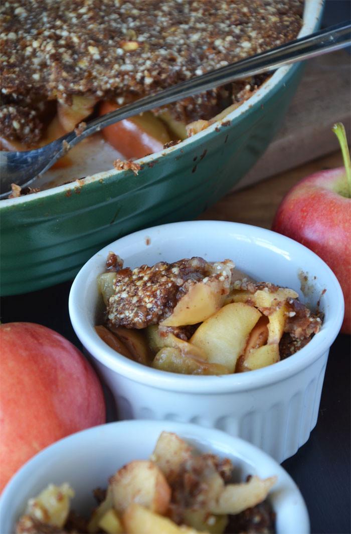 Healthy Apple Cobbler  Vegan and Grain Free Healthy Apple Crisp