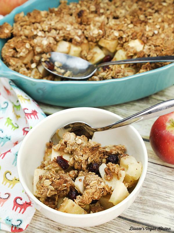 Healthy Apple Cobbler  Healthy Apple Crisp Dianne s Vegan Kitchen