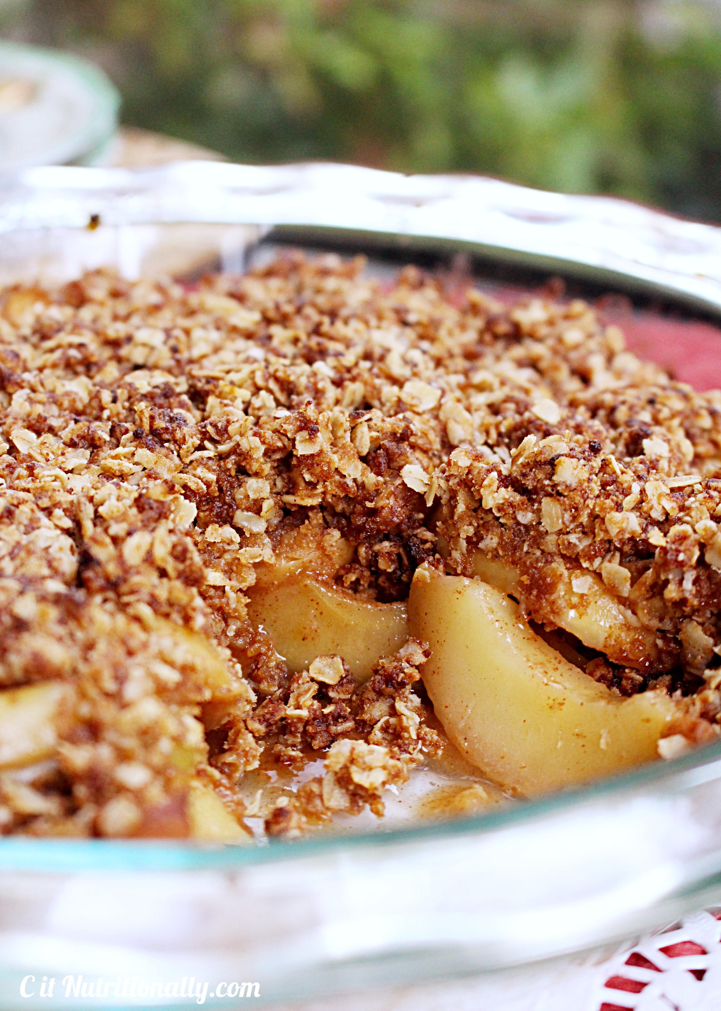 Healthy Apple Cobbler  Healthy Apple Crisp C it Nutritionally