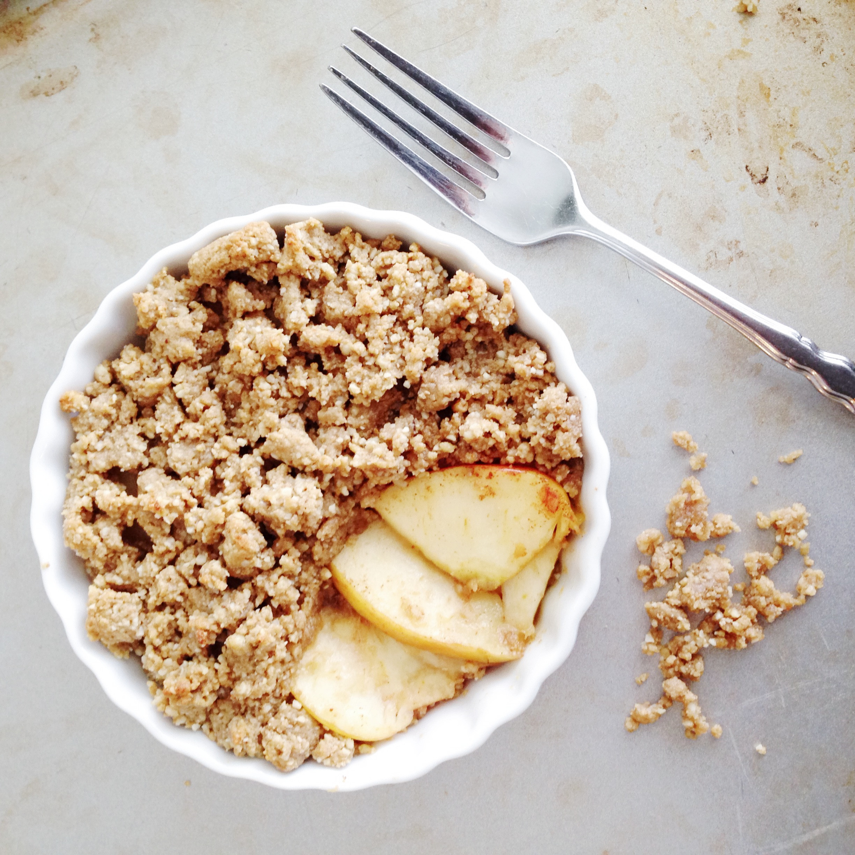 Healthy Apple Cobbler  Healthy Paleo Apple Crisp for Two