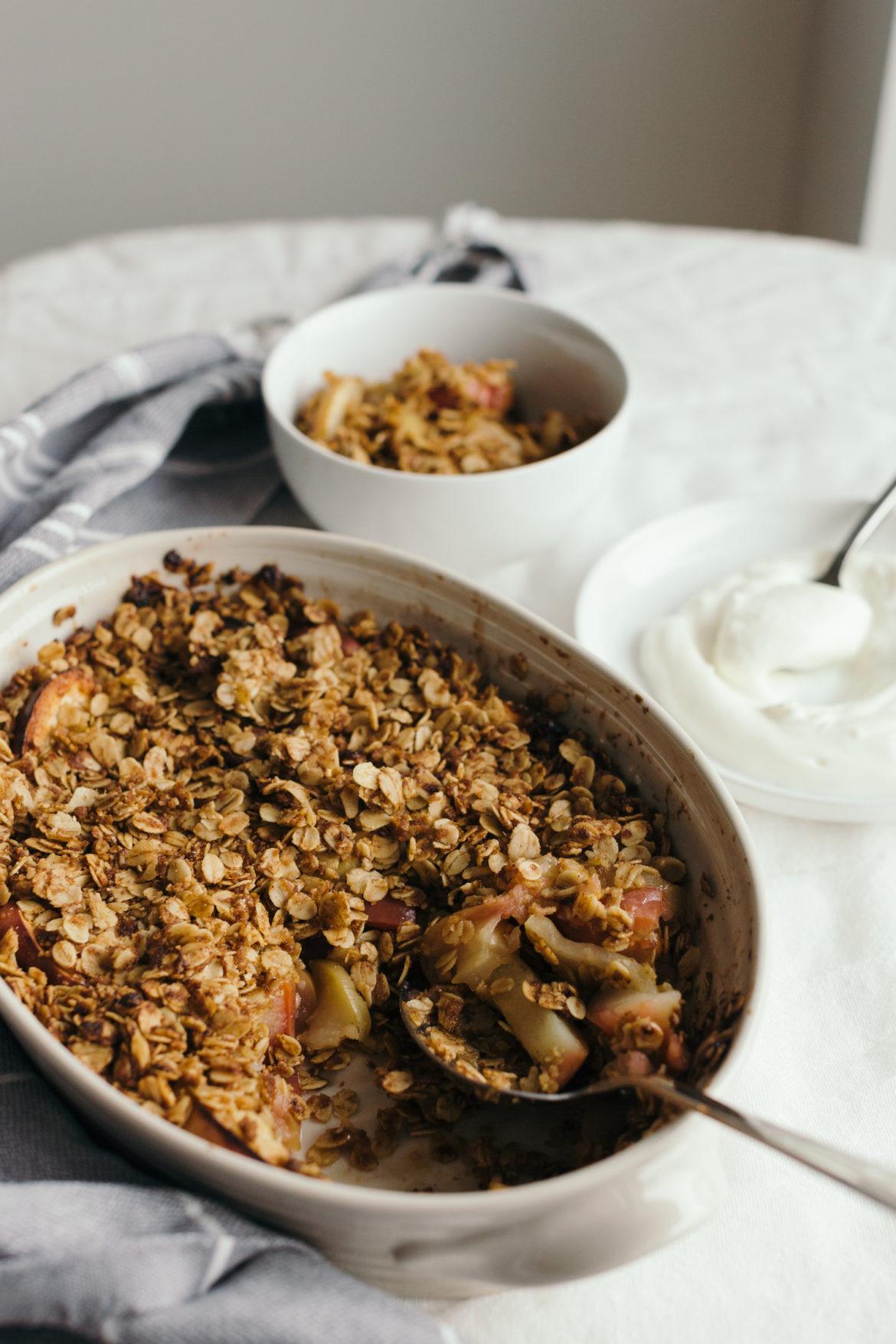 Healthy Apple Cobbler  Healthy Apple Breakfast Crisp Recipe