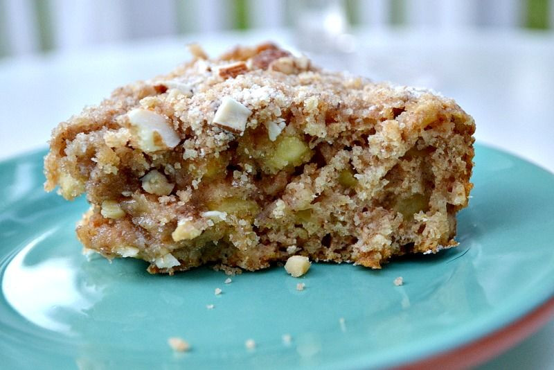 Healthy Apple Coffee Cake  Amazingly moist low fat healthy apple cake no butter or