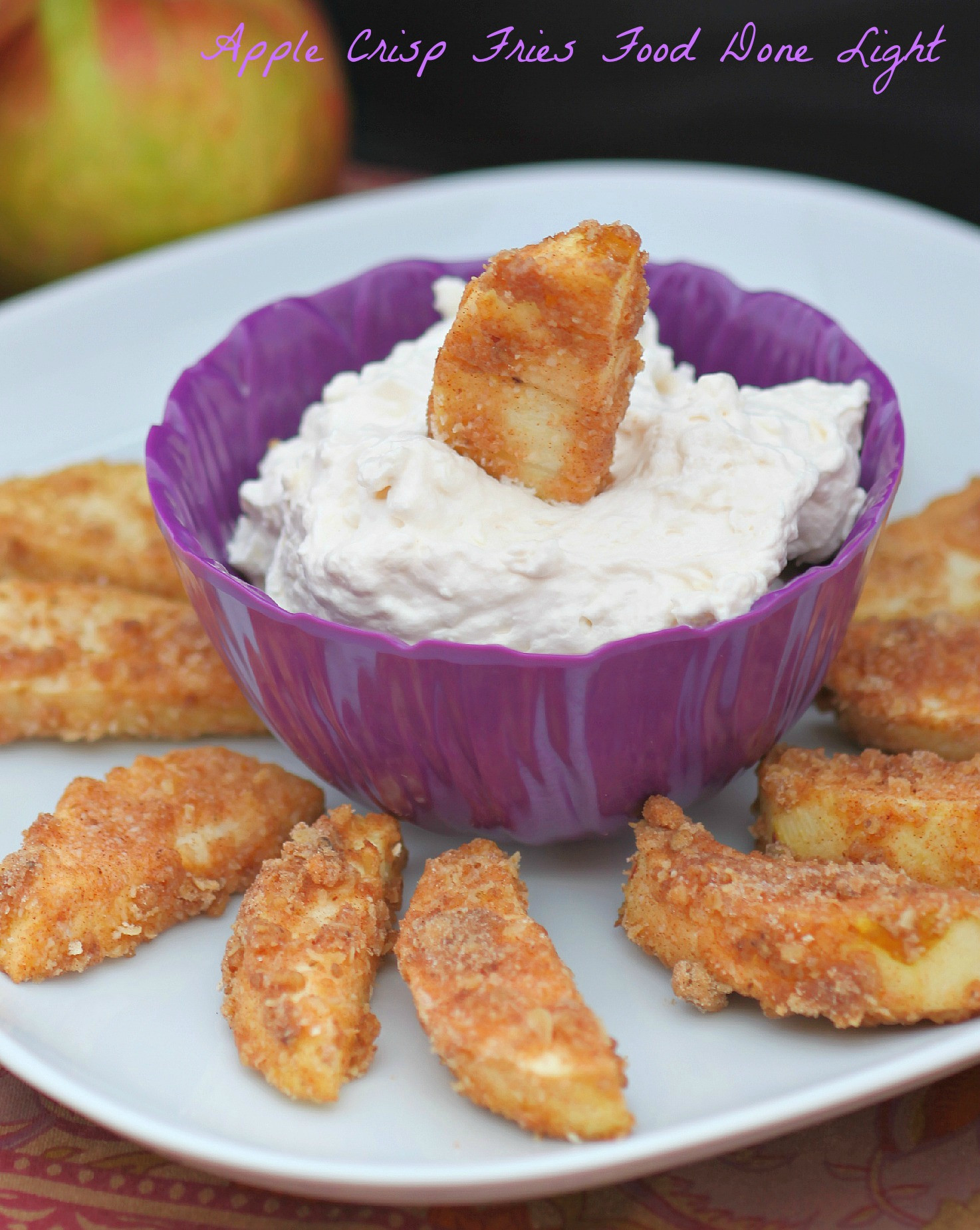 Healthy Apple Desserts  Apple Crisp Fries Healthy Low Calorie Food Done Light