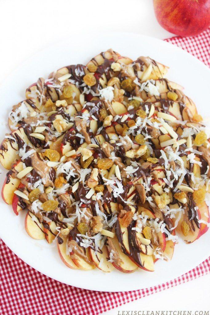 Healthy Apple Nachos  Apple Nachos Recipe