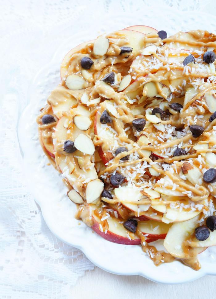 Healthy Apple Nachos  Haute & Healthy Living Apple Nachos