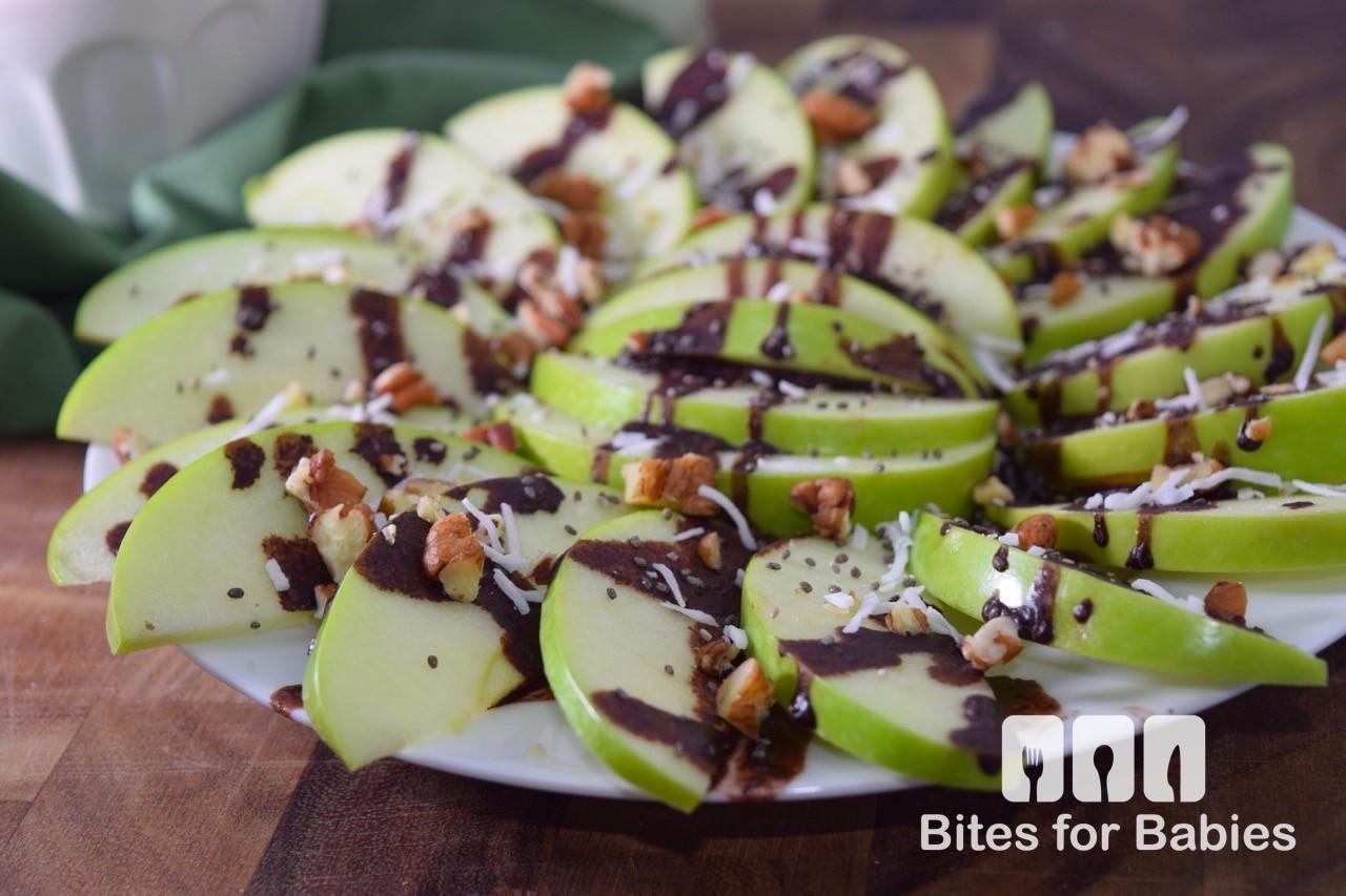 Healthy Apple Nachos  Healthy Apple Nachos Recipe Bites for Foo s