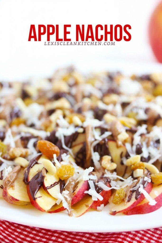 Healthy Apple Nachos  Healthy Snack Ideas Lexi s Clean Kitchen