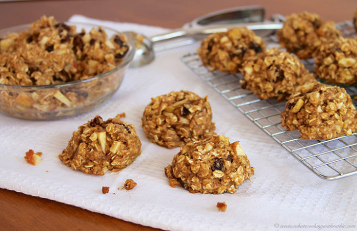 Healthy Apple Oatmeal Cookies  Healthy Oatmeal Apple Raisin Cookies Cooking With Ruthie