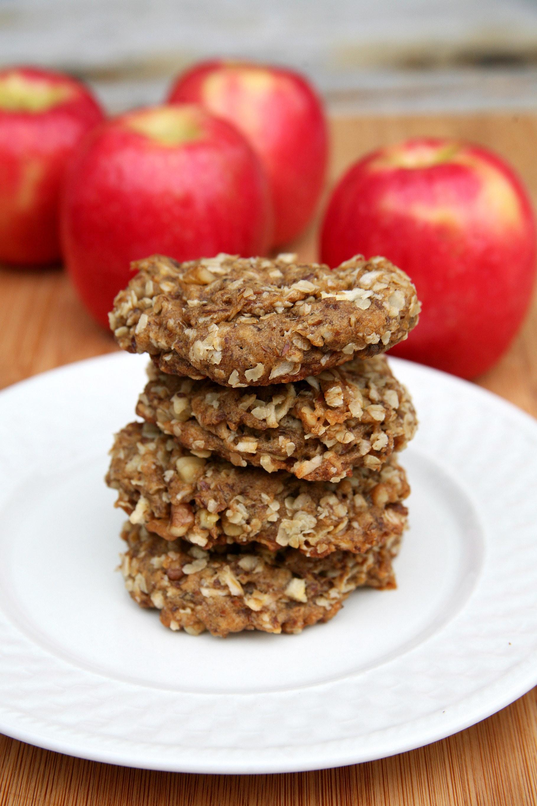Healthy Apple Oatmeal Cookies  Healthy Recipe Apple Oatmeal Flax Cookies