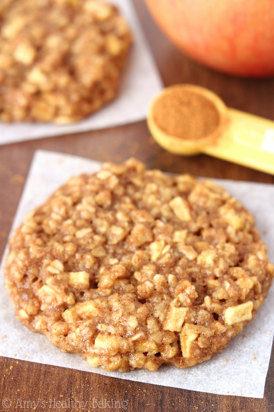 Healthy Apple Oatmeal Cookies  Peach Pie Oatmeal Cookies