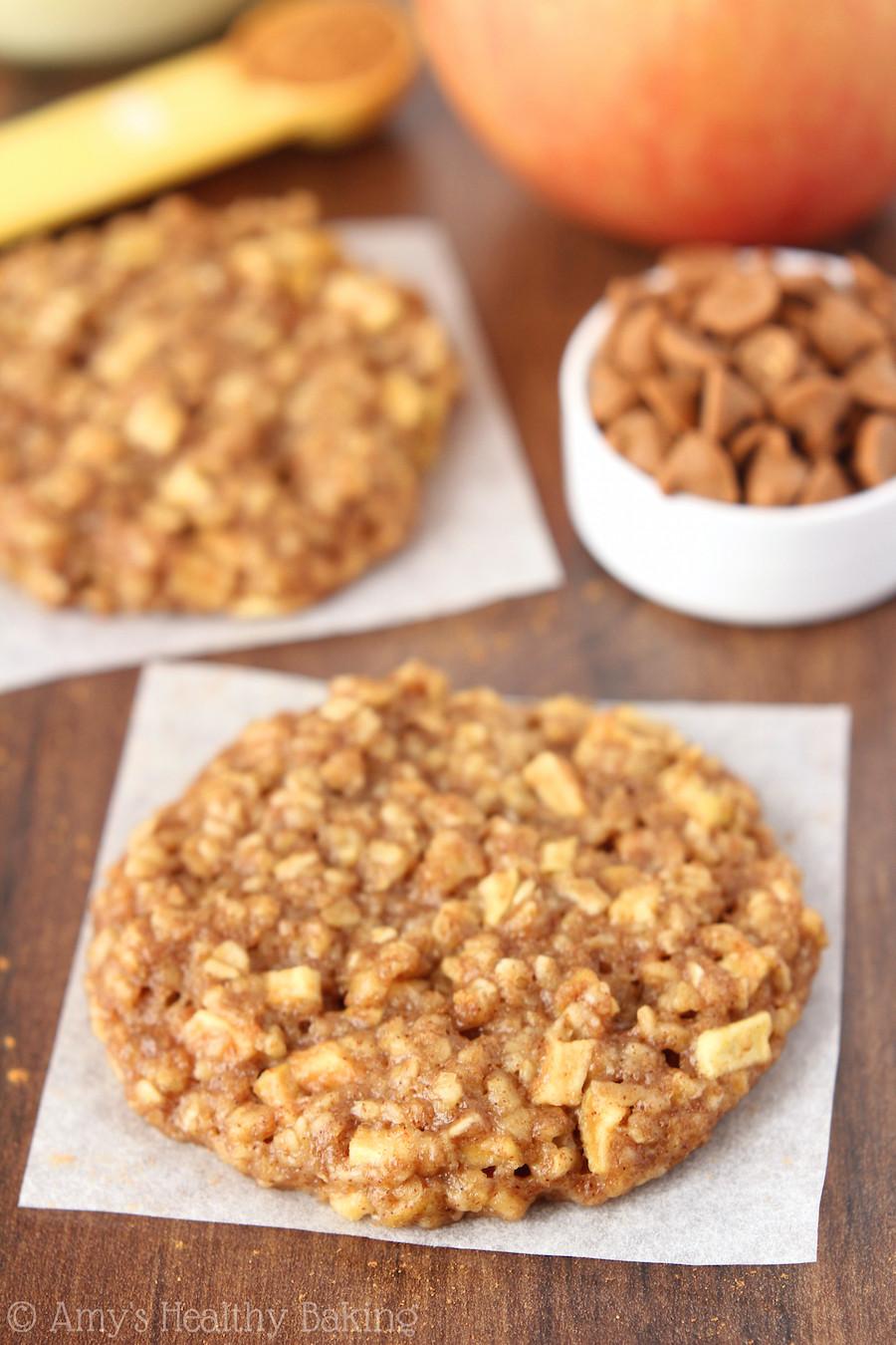 Healthy Apple Oatmeal Cookies  Apple Pie Oatmeal Cookies Recipe Video