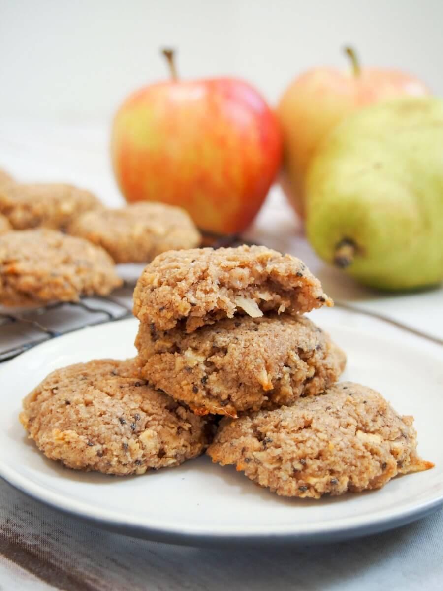 Healthy Apple Oatmeal Cookies  Healthy apple oatmeal cookies GF vegan Caroline s Cooking
